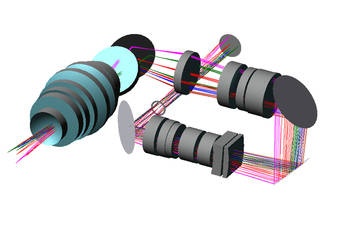 Modeling and simulation of an optical system
